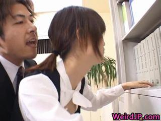 Cute Asian Secretary Screwed