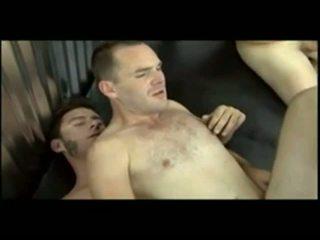 Hot straight guy gets gangbanged