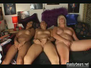 3 best friends masturbating together