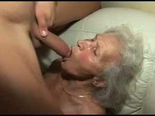 قرع ال granny's أشعر كس