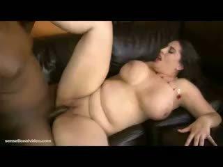brunett, stora bröst, bbw
