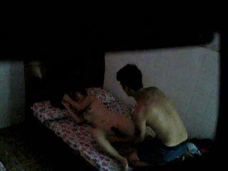 Horny couple having a nice hidden cam fuck
