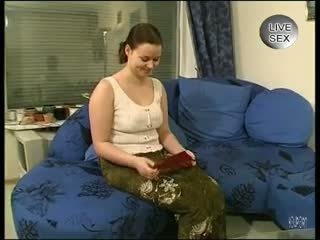 brunetka, dziewczyna solo, cock wysysających