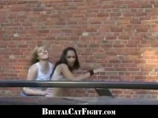 Babes Roughly Catfight And Hardcore Fuck At Work For Their Boss