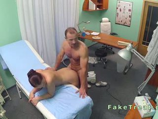 Doctor fucks nurse and cleaning lady