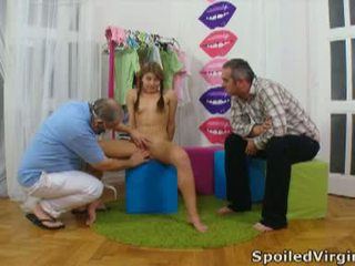 Spoiled Virgins: Russian girl has her young virgin pussy checked.
