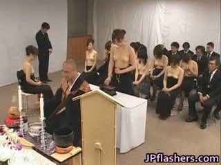 Asian Girls Go To Church Half Nude Part1