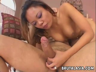 Sensuous Annie Cruz Deep Throating A Trimmed Cock.