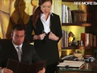Slutty sekretāre maddy oreilly glamcore aina par the galds