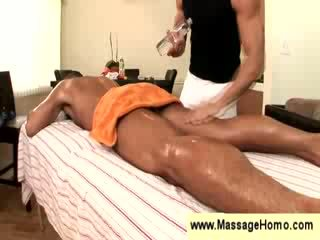 Good looking hunk gets a massage