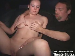 Anaal blondie bunny teef banged in porno theater