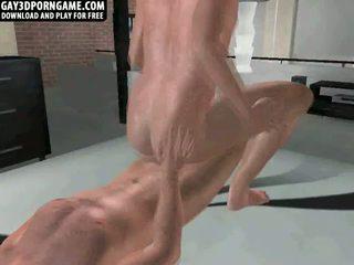 Karstās anāls sekss ar two 3d studs