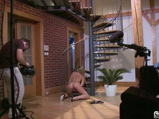 Sylvia saint sitting on the lantai fondleing her clitoris
