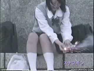 Schoolgirls upskirts