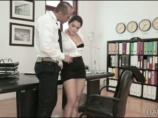 Busty office babe Valentina Nappi banged