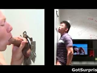 Aroused asian guy Jessie gets stiff rod