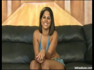 """Elana Is The Spicy Faced 19 Year Mature Cuban, Definitely Lacking In A Titty Department, But Overall Worth The Bangin. She Went Nice In """"Cock Shock"""" 10 Seconds After Being Onto Her Knees. Its Lik"""