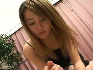 Skinny Japanese Teen Handjob