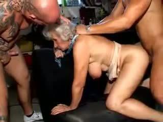 stora bröst, grannies, matures