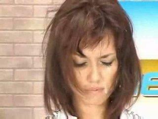 Nieuws aziatisch babe getting facial wonen