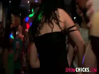 European Chicks Suck At Disco Party
