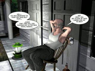 shemale, karikatūras, 3d comics