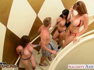 Cougars Charlee Chase, Holly Halston and Sara Jay fucking