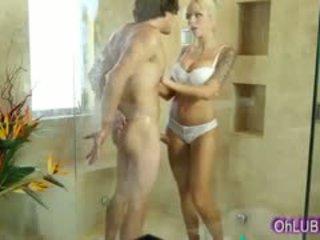 bộ ngực to, blowjob, tắm
