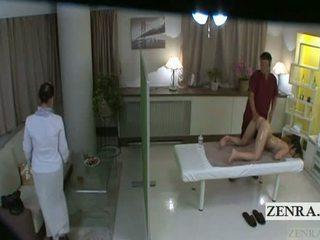 Subtitled japońskie uczennica idol hopeful tyłek masaż