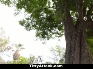 Teamskeet - Keisha Grey Bounces Oiled Up Tits