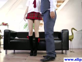 Young brit skank pleases old mans dick
