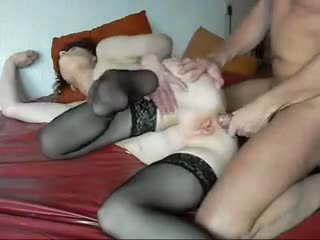 Guy and ugly granny FIRST ANAL