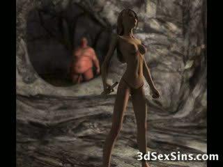 porno, groß, hahn