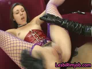 brunette, fucking, squirting, orgasm, asshole, lesbians