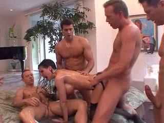 Rebecca Linares gets devastated during a Gangbang