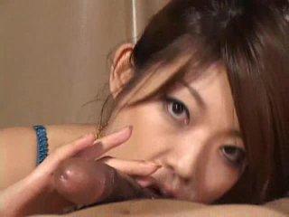 Cantik warga asia gadis reiko yabuki gives yang zakar/batang yang besar menghisap zakar video