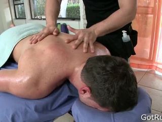 Man Receives His Body Massaged And Toy Fucked