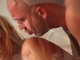 Iň beti pounded, blows more, great blonde full