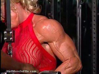 kaukazo, solo mergina, raumenų