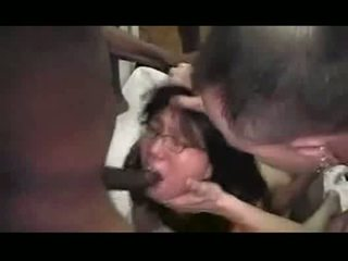Asian wife deep fucked by multiple bbcs