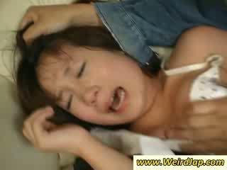 Nauw bodied aziatisch maids gets bestraft