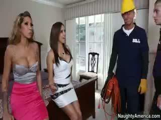 brunette, gratis groepsseks, kwaliteit pornstar
