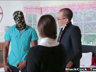 Ładne brunetka nastolatka amirah adara nailed przez ogromny czarne kutas