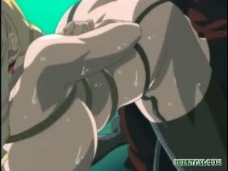 Bondage hentai with big boobs gets an enema injection