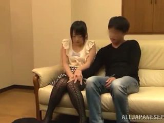 Obscene Asian Girl Has Shaged Onto A Divan After Having A Dinner