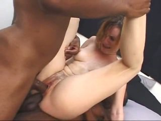 White milf gets screwed by two big black cocks