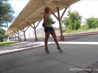 Working the Train Station in Miniskirt and Heels: Porn f8