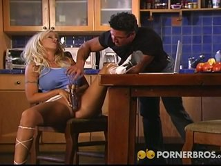 Sexy big tits blonde get fucked by muscled hunk