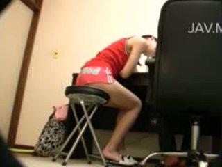 Napalone azjatyckie dziewczyna walenie