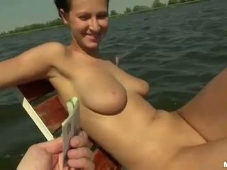 Busty Czech girl Nikol fucked on boat